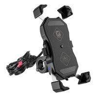 Suporte de Celular KW USB + Wireless Carregamento por Indução com Regulagem Universal